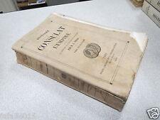 HISTOIRE DU CONSULAT ET DE L EMPIRE M THIERS TOME DIX HUITIEME 18 1860 *
