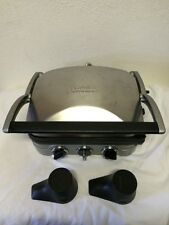 Cuisinart GR4 Panini Griddle Grill Sandwich Maker - Clean!!!