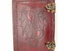 Dragon Leather Handmade Book Of Shadows Leather Journal Wicca Pagan Diary Large