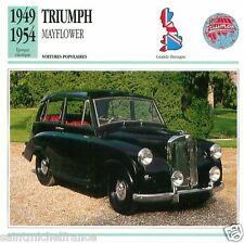 TRIUMPH MAYFLOWER 1949 1954 CAR VOITURE Great Britain CARTE CARD FICHE