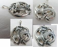 . SCANDINAVIAN GERMANIC MYTHOLOGY VIKING WOLF FENRIR PENDANT Silver 925