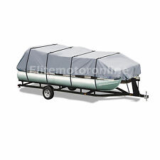 Delexe Trailerable Pontoon boat cover Grey Fits 25' 26' 27' 28' L