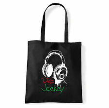 Art T-shirt, Borsa shoulder Disc Jockey Cuffie, Nera, Shopper, Mare