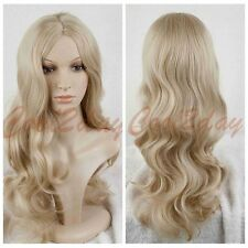 Cosplay Movie Hair Princess Cinderella Wig Long Curly Ash Blonde Anime Wig