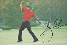 TIGER WOODS Signed 12x8 Photo GOLF Legend US MASTERS RYDER CUP COA