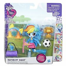 Little Pony Equestria Girls Minis My Rainbow Dash Escuela Pep Rally Set