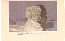 Filet Baby Bonnet & Booties and Baby Afghan Crochet Patterns