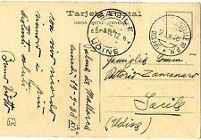 1938 franchigia ufficio postale speciale 10 P.M. - Guerra di Spegna