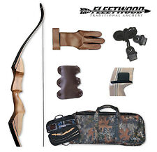Fleetwood Sparten Take Down Recurve Bow 35# Starter Package Left Handed