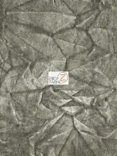 "CRUSH FLOCKING UPHOLSTERY VELOUR VELVET FABRIC - Gray - 56/57"" WIDE BY YARD"