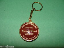 Sacred Heart Church Bangor Michigan 50th Anniversary 1932-1982 Keychain