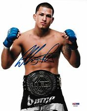Anthony Pettis Signed UFC 8x10 Photo PSA/DNA COA Picture w/ WEC Belt Autograph