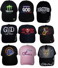 Christian  Baseball Caps Hats  Assorted Messages  6 Pc Lot Embroidered (ECCap-6)