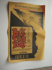 """PETE WAGNER """"BUY THIS BOOK"""" Promotional Poster & Not NY Times Review - 1980"""