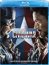 New Captain America: Civil War Blu-Ray (2016)