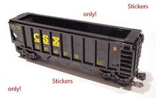 Stickers for CSX Hopper trains LEGO