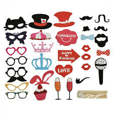 31PCS Masks Photo Booth Props Mustache On A Stick Birthday Wedding Party DIY HOT