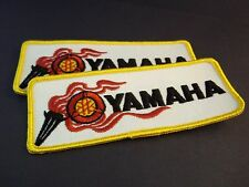 Vintage PAIR Large YAMAHA Racing Patch New Motorcycle Dirt Bike Drag Car SET