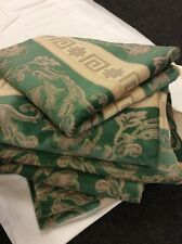 Bundle 7.55m Heavy Fireproofed Upholstery Green Pink Cream Fabric FREE POSTAGE