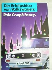 VW Polo Fancy brochure Nov 1987 German text