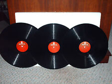3 DECCA  RED LABEL 12 INCH 78 RPM RECORDS -GREAT MUSIC-MADE IN ENGLAND