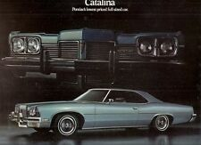 Pontiac Catalina 1973 USA Market Foldout Sales Brochure Hardtop Coupe Sedan