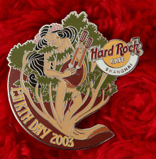 Hard Rock Cafe Pin SHANGHAI Earth Day NUDE GIRL Lute instrument GUITAR tree logo