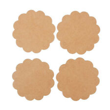 50x in bag Flower Round Kraft Paper Hang Tags Wedding Party Label Gift Cards Tag