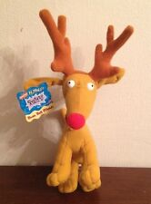 RUGRATS Reindeer SPIKE THE DOG Holiday Bean Bag Stuffed Dog w/Tag Mattel 1997
