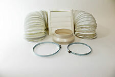3 METRE PORTABLE AIR CONDITIONING  VENT HOSE EXTENSION KIT + WHITE WALL VENT