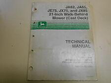 JOHN DEERE JA62, JA65 WALK-BEHIND MOWER TECHNICAL MANUAL- PART NUMBER: TM1723