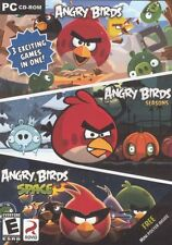 ANGRY BIRDS 3 PACK PC GAMES *NEW* : ANGRY BIRDS, SEASON, SPACE FREE MINI POSTER!