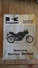 KAWASAKI NINJA EX250 GPZ 250 SHOP MANUAL REPAIR MANUAL - Dirty but GOOD!