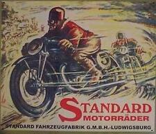 Älteres Blechschild Oldtimer Motorrad Standard Reklame Werbung gebraucht used