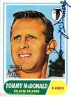 TOMMY McDONALD SIGNED TOPPS CERTIFIED AUTO CARD~FOOTBALL HALL OF FAME~HOF AUTO