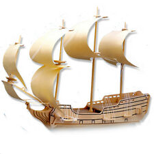 "3-D Wooden Puzzle - Sailing Military Ship Gift Item ""Brand New"""