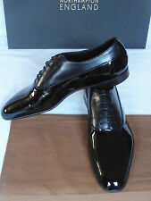 NEW Edward Green IFFORD Black Patent & Black Calf Leather Evening Shoes UK 8.5 D