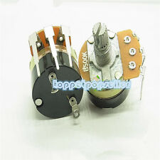 10Pcs WH138 B500K 15mm Power Single Linear Switch Carbon Potentiometer 500KΩ