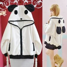 Kawaii Clothing Cute Harajuku Ropa Ears Panda Jacket Sweatshirt Hoodie Bear Emo