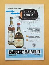D332 - Advertising Pubblicità- 1959 - CARPENE MALVOLTI SPUMANTI E BRANDY