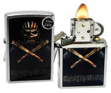 Zippo 29434 Iron Maiden Eddie the Head Book of Souls Chrome Windproof Lighter