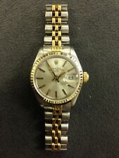 Authentic Rolex Oyster Perpetual Ladies Stainless Steel And 18K Wrist Watch 6917