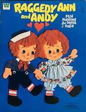 Raggedy Ann and Andy Paper Doll Book, Uncut, 1974, Whitman