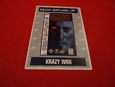 Krazy Ivan Sega Saturn Vidpro Promotional Display Card ONLY