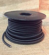 Black Cloth Covered Round Cord, 2 Conductor Antique Style -  100 ft Spool