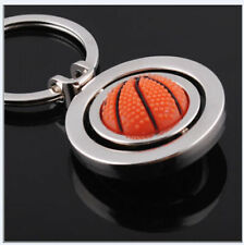 hot!2016  3D Basketball Sports Rotating Keychain Keyring Key Chain Ring