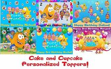 Bubble Guppies Edible Custom Icing Sheet Cake Cupcake Topper Personalized