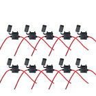 10 X 16 Gauge ATC Fuse Holder Box W/ FUSE IN-LINE AWG Wire Copper 30A