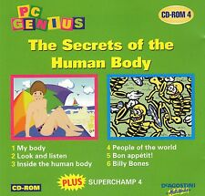 PC GENIUS - MATHS , ENGLISH, SCIENCE THE SECRETS OF THE HUMAN BODY AGE 5 TO 10
