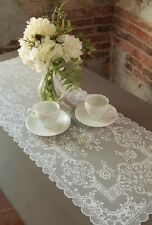 "Heritage Lace 14""x 36"" DOWNTON ABBEY GRANTHAM White Table Runner"
